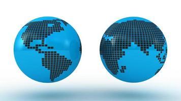 globales Set mit Kartenserien foto