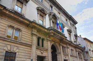historischer Palast. Piacenza. Emilia-Romagna. Italien. foto