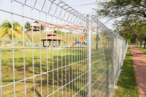 Sicherheitsgrenzzaun in Wohngemeinschaften foto