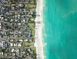 Luftaufnahme der Insel foto