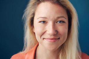 Gesicht einer realen Person foto