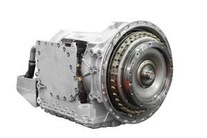 Automatikgetriebe für schwere LKW isoliert foto
