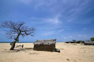 Fischerhütte in Polmoddai, Sri Lanka foto