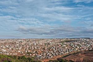 afrikanische Shanty-Stadt foto