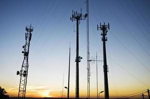 Telekommunikationsantennen foto