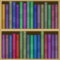 Bücherregal generiert mietet Textur foto
