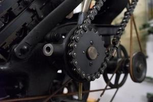 Kettenantriebsmaschine in Druckerei foto