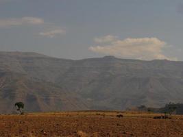 Ackerland in Äthiopien foto