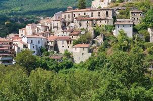 Panoramablick auf Brienza. Basilikata. Italien.