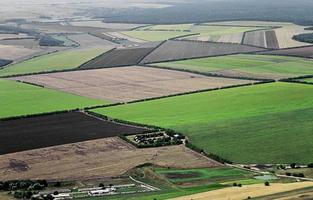 Luftaufnahme des ländlichen Raums foto