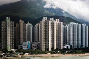 Wohngebäude in Hongkong foto