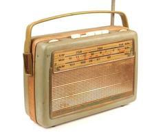 altes schmutziges Radio foto