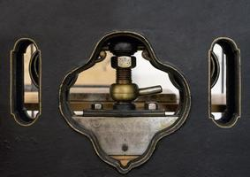 Schraube der Maschine in der Druckmaschine foto