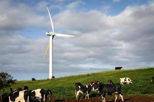 umweltfreundliche Windkraftanlage foto