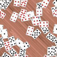 Spielkarten auf Deck nahtlos generiert Einstellungen Textur foto
