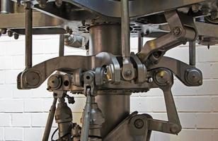 die mechanischen Teile des Hubschrauberpropellers foto