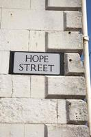 hoffe Straßenschild foto