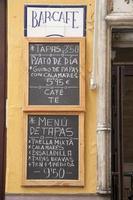 Menüschild, Sevilla - Sevilla, Spanien foto