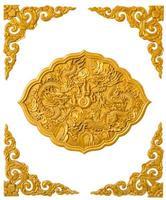 Textur mit Drachenstatue von der Tür im thailändisch-chinesischen Tempel. foto