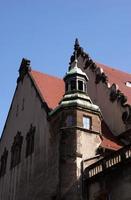 Fassadenmontage Halle Universität foto