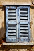 Lonate Ceppino Varese Italien Grün Holz Jalousie in der foto