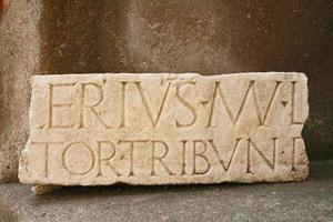 Porticus Octaviae alte römische Struktur in Rom Italien, Details foto