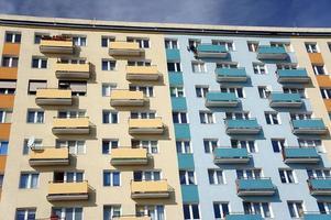 Fassade des Gebäudes foto