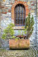 Oltrepo altes Dorf, Detail. Farbbild