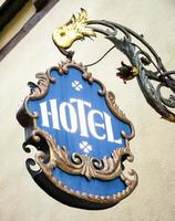altes Hotelschild foto