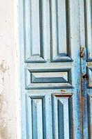 Marokko in Afrika die alte Holzfassade nach Hause foto