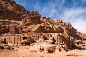 Fassaden von Petra foto