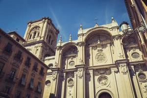 Fassade der Renaissancekathedrale, Granada, Andalusien, Spanien foto