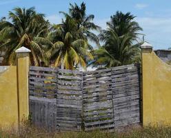 Strandhäuser Chelem Mexiko Sommer Haustür Wandarchitektur