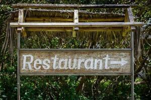 Restaurantschild foto