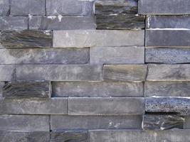 Wand aus grauem Stein foto