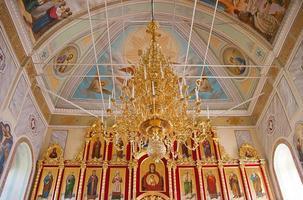 Innenraum des orthodoxen Tempels, Stadt suzdal, Russland foto