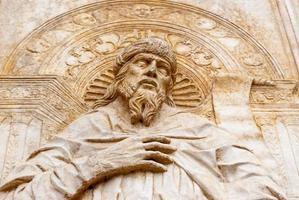 Marmorrelief biblisch foto