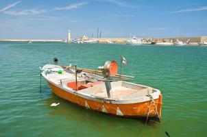 Panoramablick auf Molfetta. Apulien. Italien. foto
