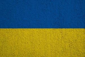Flagge der Ukraine foto