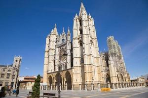 leon kathedrale, spanien foto