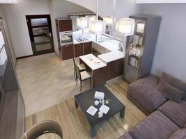 Wohnzimmer zeitgenössischen Stil foto