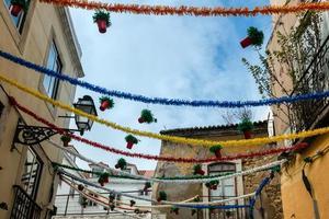 Straßendekoration in Lissabon foto