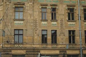 Fassade des Gebäudes in lviv foto