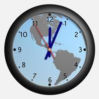 Uhr mit Erdkugel bkg foto