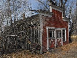 verlassene alte Ladenfront in Oregon foto