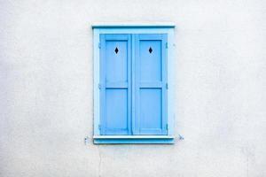 Vintage Fenster der europäischen Tradition foto