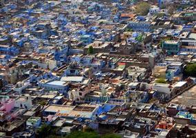Blick auf die Stadt Chittorgarh vom Fort Chittorgarh, foto