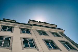 Sonne hinter Haus foto