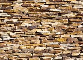bunte Steinmauer Nahaufnahme foto
