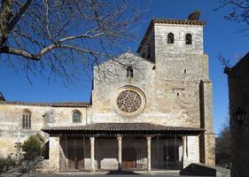 st.cosme und st. Damian Kirche in Covarrubien (Burgos, Spanien) foto
